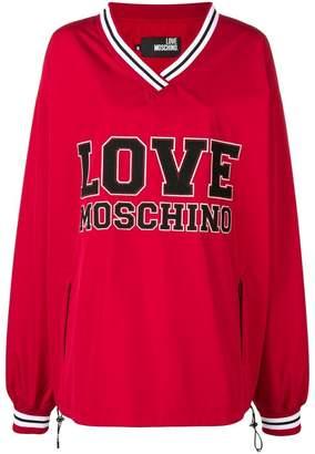Love Moschino oversized v-neck jersey