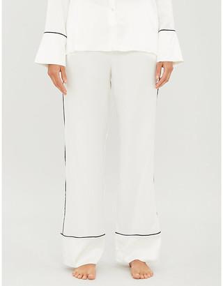 Asceno Piped-trim silk pyjama bottoms