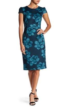 Betsey Johnson Floral Knit Midi Dress