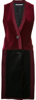 Rosetta Getty velour style long waistcoat $1,250 thestylecure.com