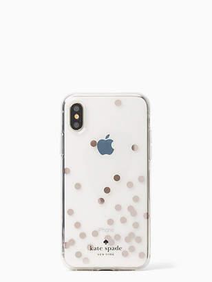 Kate Spade Confetti rose gold foil iphone x case