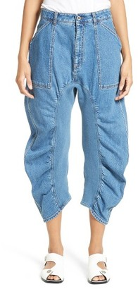 Women's Stella Mccartney Xenia Ruched Crop Jeans $685 thestylecure.com