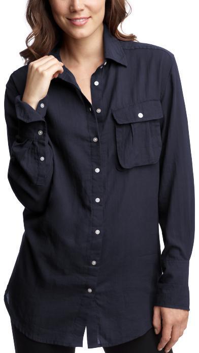 Single-pocket boyfriend shirt
