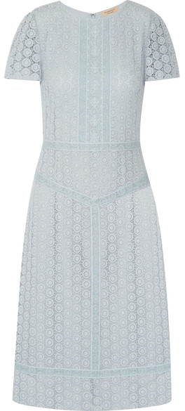 Burberry - Guipure Lace Dress - Sky blue