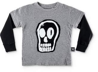 Nununu Unisex Layered-Look Dizzy Skull Tee - Baby