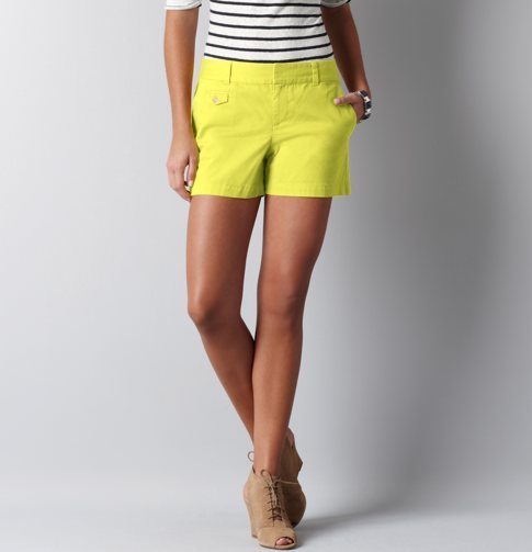 Marisa Cotton Twill Shorts with 4