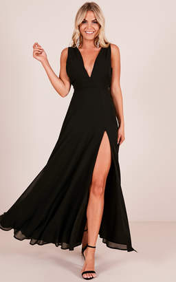 Showpo Wide Eyed Girl Maxi Dress in Black