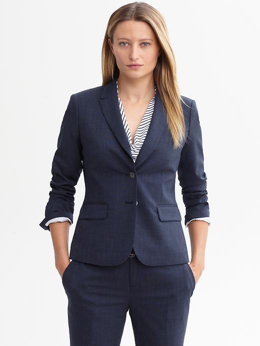 Banana Republic Navy lightweight wool blazer