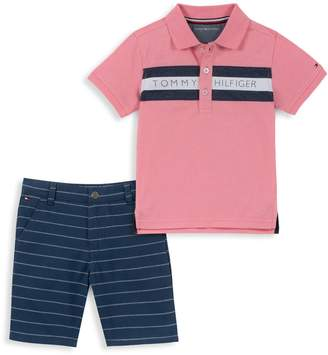 Tommy Hilfiger Baby Boy's 2-Piece Polo Shirt and Striped Shorts Set