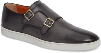 Santoni Freemont Double Monk Strap Shoe