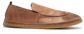 Marsèll Textured Sole Leather Loafers - Mens - Brown