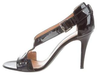 Sergio Rossi Patent Leather Strappy Sandals