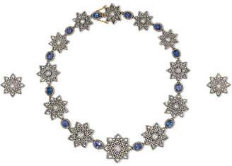 Amrapali 18-karat Gold, Diamond And Tanzanite Earring And Necklace Set - Silver