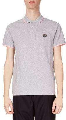 Kenzo Men's Fitted Tiger Crest Polo Shirt
