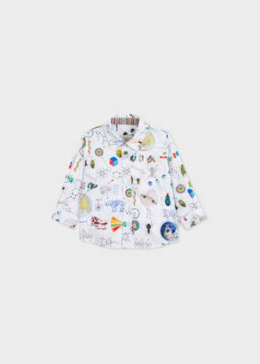 Paul Smith Baby Boys' 'Scientific' Print Long-Sleeve Print Shirt