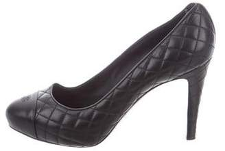 Chanel Quilted CC Pumps