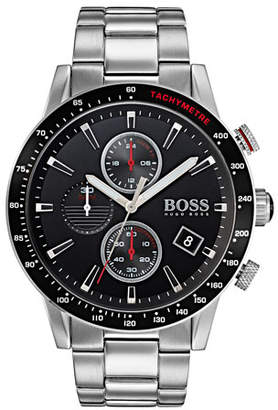HUGO BOSS Men's Rafale Chronograph Bracelet Watch, Black
