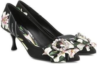 326f0c0fe Dolce & Gabbana Floral canvas pumps
