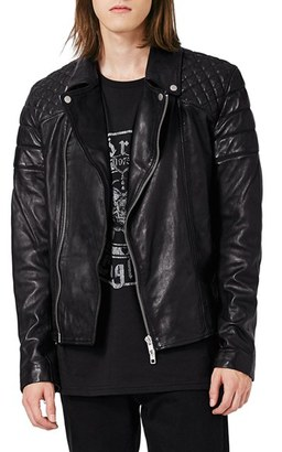 Men's Topman Quilted Leather Biker Jacket $300 thestylecure.com