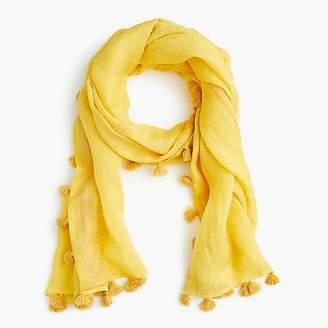 J.Crew Summerweight pom-pom scarf