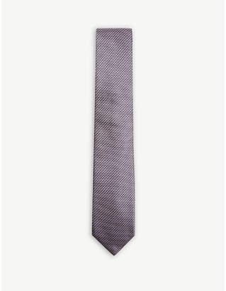BOSS Jagged striped silk tie