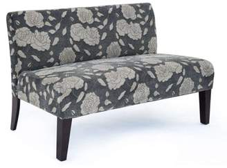 """DHI 47"""" Rose Deco Upholstered Loveseat, Multiple Colors"""