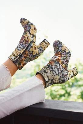 Urban Outfitters Emma Floral Jacquard Ankle Boot $79 thestylecure.com