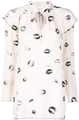Sonia Rykiel lip print blouse