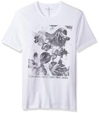 Calvin Klein Jeans Men's Short Sleeve Bright Floral Crew Neck T-Shirt