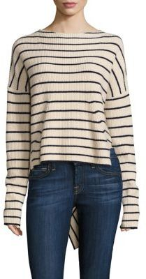 Brochu Walker Reir Strip Cashmere Pullover $398 thestylecure.com