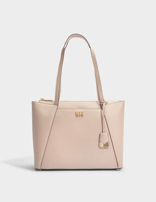 e4c2da75b424 MICHAEL Michael Kors Mott Medium East-West Top Zip Tote Bag in Soft Pink  Crossgrain