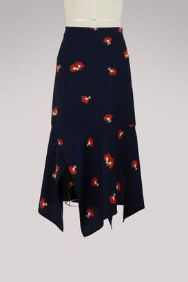 Victoria Beckham Asymmetric midi skirt