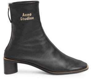Acne Studios Women's Bertine Leather Booties - Black - Size 41 (11)