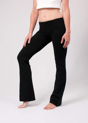 Hard Tail Foldover Bootcut Yoga Pants with Logo - 330 L