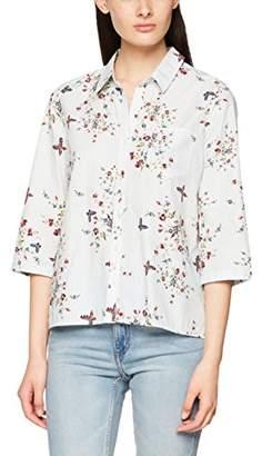 7c5a66730058b Mavi Jeans Women's Printed Shirt Blouse, (Grey Stripe 23216), ...
