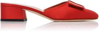 Victoria Beckham Harper Bow-Detailed Satin Mules