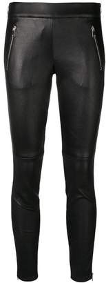 Alexander McQueen zipped leather leggings