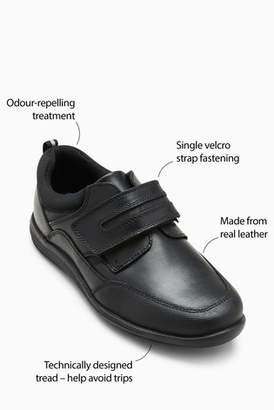 Next Boys Black Single Strap Leather Shoes (Older)