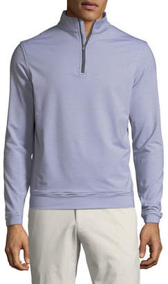 Peter Millar Men's Perth Micro-Stripe Half-Zip Sweater