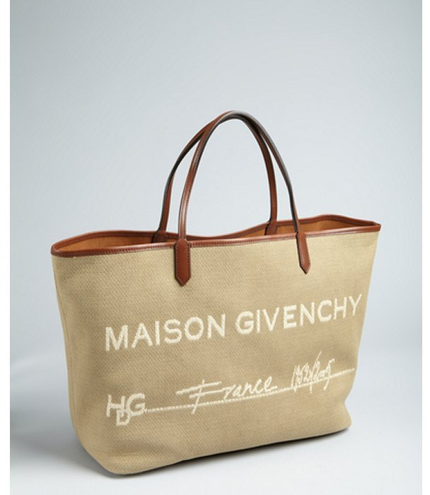 Givenchy beige canvas 'Maison Givenchy' shopper tote