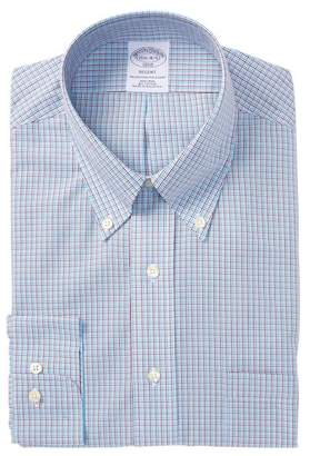 Brooks Brothers Mini Check Slim Fit Dress Shirt