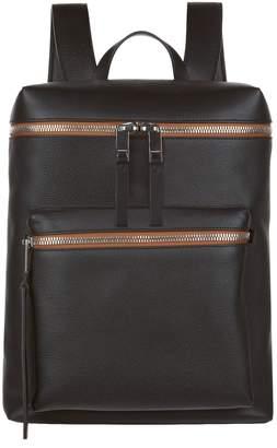 Burberry Leather Zip Top Rucksack