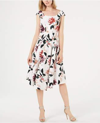 0ac3d66b3e2d1 Calvin Klein White Fit   Flare Dresses - ShopStyle