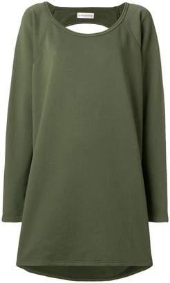 Faith Connexion draped backless sweatshirt dress