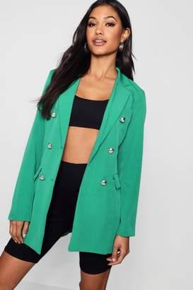 boohoo Button Blazer Jacket