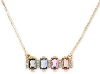 Rachel Roy Rachel Rachel Gold-Tone Cluster Stone Pendant