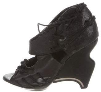 AllSaints Leather Wedge Sandals