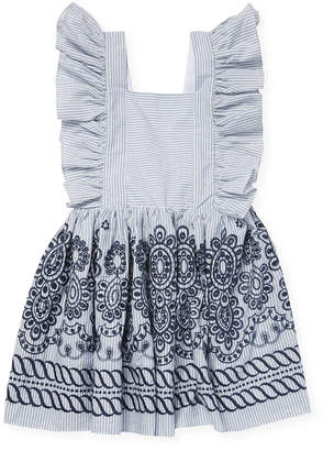 Halabaloo Flutter Sleeve Stripe Dress
