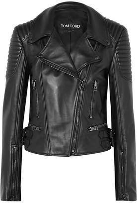 Tom Ford Quilted Leather Biker Jacket - Black