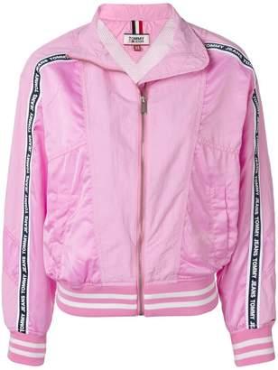 Tommy Jeans logo stripe bomber jacket